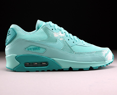 Nike WMNS Air Max 90 Print Artisan Teal Light Rtr White Sneakers 724980-300