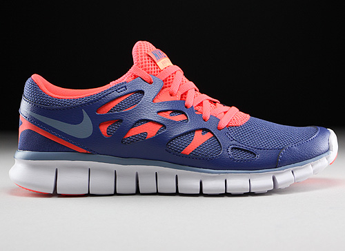 Nike WMNS Free Run 2 EXT Blue Legend Cool Blue Hot Lava White Sneakers 536746-406