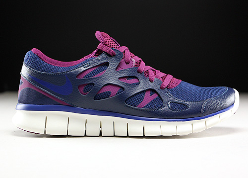 Nike WMNS Free Run 2 EXT Midnight Navy Deep Royal Blue Mulberry Purple Sneakers 536746-407