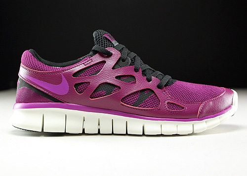 Nike WMNS Free Run 2 EXT Mulberry Purple Dusk Black Dark Grey Sneakers 536746-504