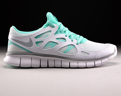 Nike WMNS Free Run 2 EXT White Wolf Grey Artisan Teal White Sneakers 536746-103
