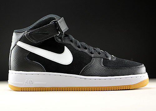 wholesale dealer 38224 5a762 Nike Air Force 1 Mid Black White Gum Medium Brown