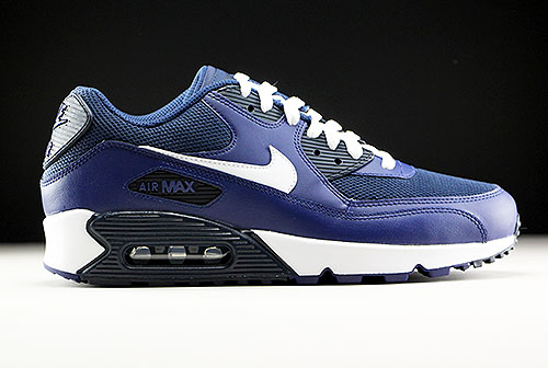 d1bccd564ae239 Nike Air Max 90 Essential Loyal Blue White Squadron Blue Dark Obsidian