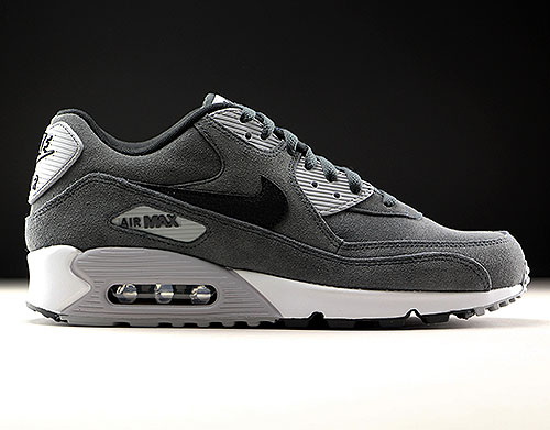 best service f4063 3bc7d Nike Air Max 90 Leather Anthracite Black Wolf Grey White - Purchaze