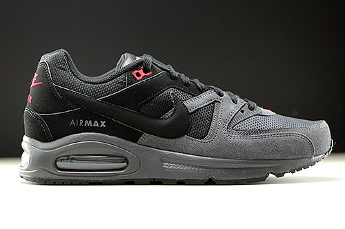 nike air max command leather cool grey / white - team red tigers