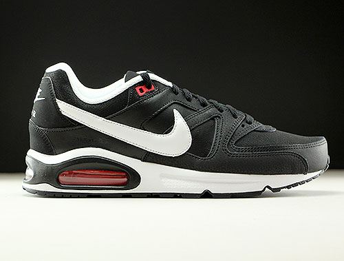 purchase cheap 6dc1f b5527 Nike Air Max Command Leather Black White Action Red
