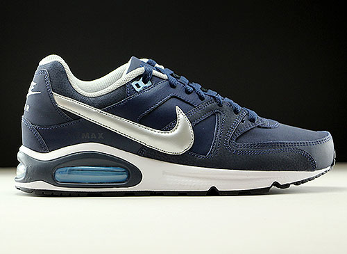 Nike Air Max Command Leather Obsidian Metallic Silver White