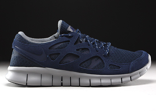best loved ff9a8 61a3d Nike Free Run 2 Midnight Navy Flat Silver