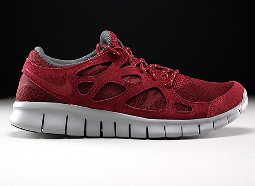 nike free run bordeaux rood