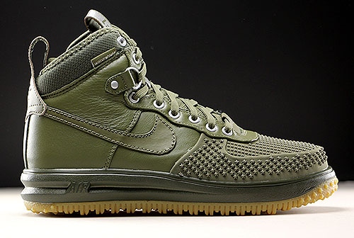 Nike Lunar Force 1 Low Duckboot shoes olive canvasblack