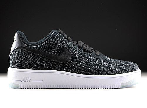 Nike WMNS Air Force 1 Flyknit Low Black White - Purchaze