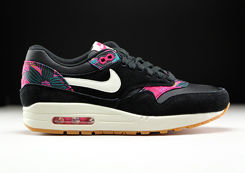 Nike WMNS Air Max 1 Print Black Sail Pink Force 528898-004 ...
