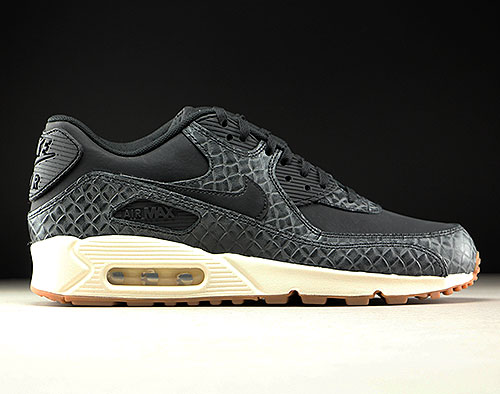 69945763aebaf Nike WMNS Air Max 90 Premium Black Sail Gum Medium Brown 443817-010