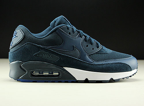 low priced 34cff cea6b Nike Air Max 90 Essential Armory Navy Blue White