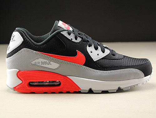 Nike Air Max 90 Essential Wolf Grey Bright Crimson Black
