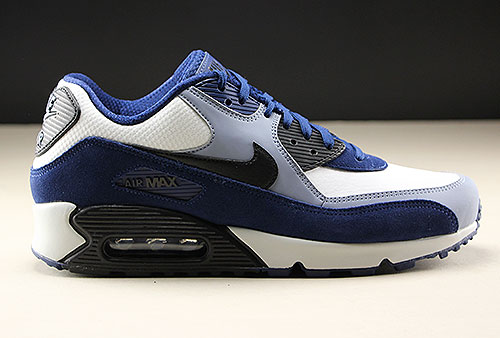 new product 4ba5d 98c95 Nike Air Max 90 Leather Blue Void Black Ashen Slate 302519-400