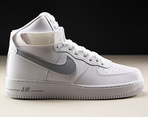 sports shoes 57b70 b37fd Nike Air Force 1 High White Wolf Grey AT4141-100