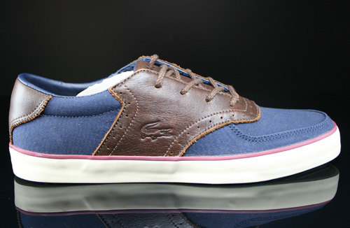Lacoste Glendon Brogue SRM Dark Blue Dark Brown Sneakers 7-27SRM12222N2