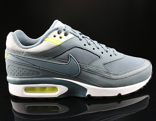 Nike Air Classic BW Essential Textile Armory Slate Dusty Grey Volt Sneakers 579594-440