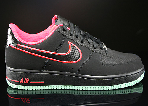 Nike Air Force 1 Low Black Laser Crimson Arctic Green Sneakers 488298-048