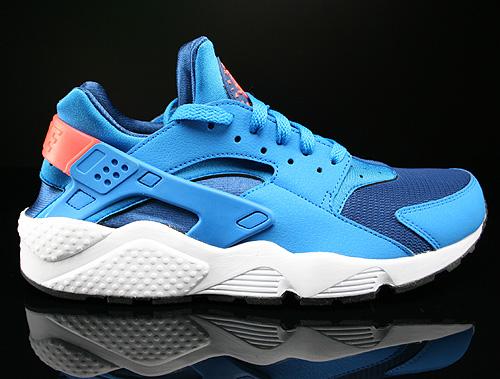 Nike Air Huarache Gym Blue Photo Blue Bright Mango White Sneakers 318429-402