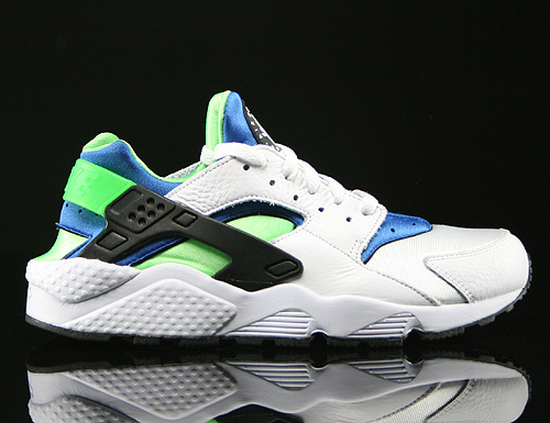 Nike Air Huarache White Scream Green Royal Blue Black Sneakers 318429-100