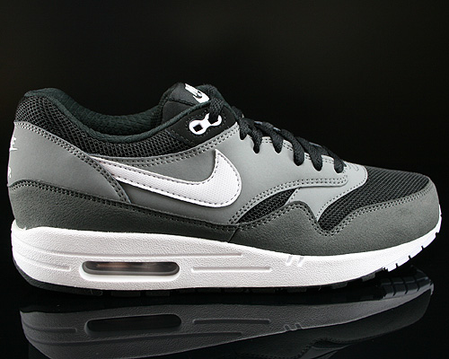 Nike Air Max 1 Essential Black Geyser Grey Cool Grey White Sneakers 537383-001