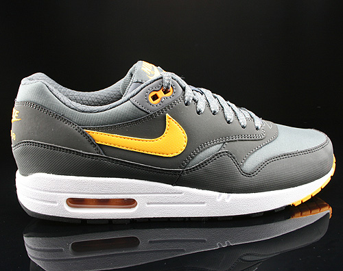 Nike Air Max 1 Essential Dark Grey Laser Orange Anthracite Black Sneakers 537383-080