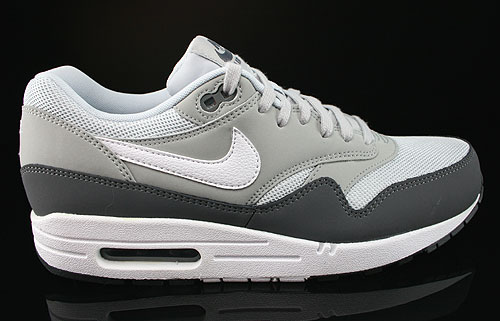 Nike Air Max 1 Essential Dark Grey White Silver Pure Platinum Sneakers 537383-010