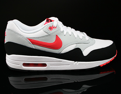 Nike Air Max 1 Essential White Laser Crimson Pure Platinum Black Sneakers 537383-106
