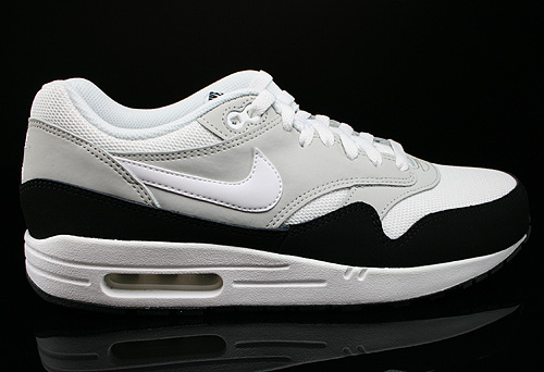 Nike Air Max 1 Essential White Light Base Grey Black Sneakers 537383-115