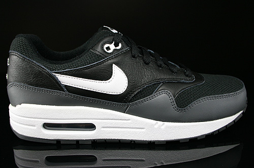 Nike Air Max 1 GS Black White Dark Grey Sneakers 555766-014