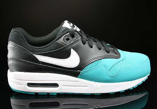 Nike Air Max 1 GS Black White Turbo Green Black Sneakers 555766-012