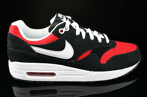 Nike Air Max 1 GS Black White University Red Sneakers 555766-004