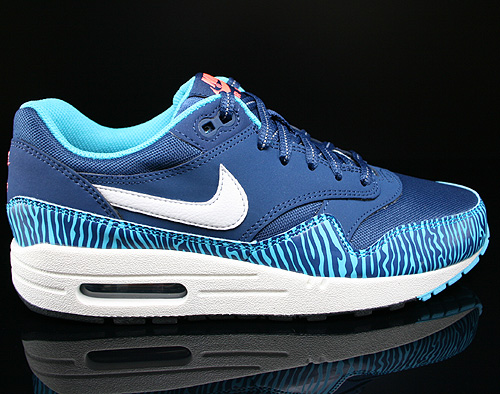 Nike Air Max 1 GS Brave Blue Summit White Black Sneakers 555766-402