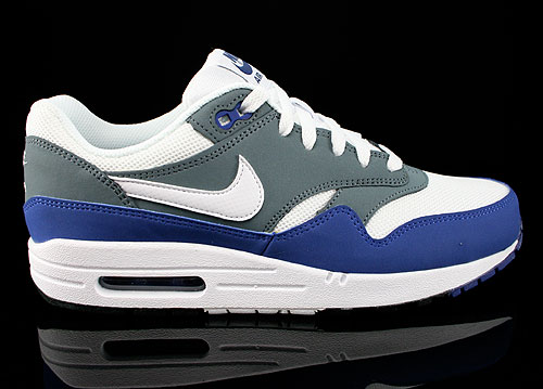 Nike Air Max 1 GS Deep Royal Blue White Armory Slate Black Sneakers 555766-400