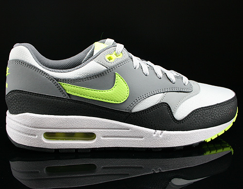 Nike Air Max 1 GS Dusty Grey Volt Cool Grey Metallic Silver Sneakers 555766-006