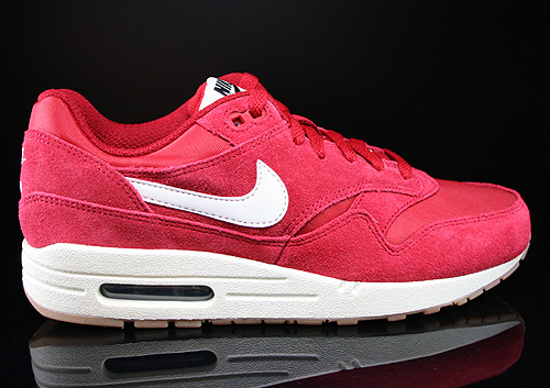 Nike Air Max 1 GS Gym Red Sail Black Sneakers 555766-600