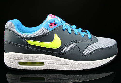 Nike Air Max 1 GS Magnet Grey Volt Hyper Pink Dark Magnet Sneakers 555766-015