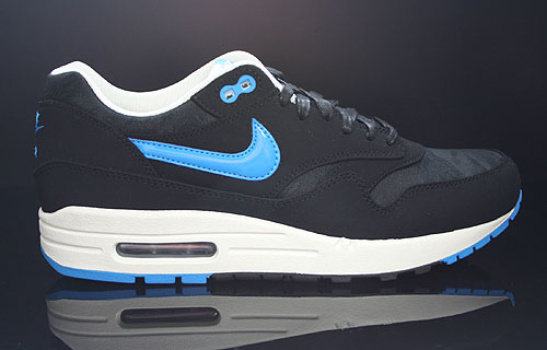Nike Air Max 1 Premium Black Blue Hero Sail Sneakers 512033-041