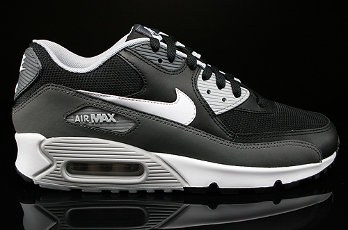 Nike Air Max 90 Essential Black White Dark Grey Wolf Grey Sneakers 537384-032