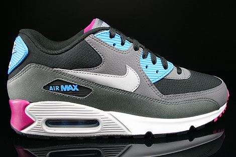 Nike Air Max 90 Essential Black Wolf Grey Anthracite White Sneakers 537384-009
