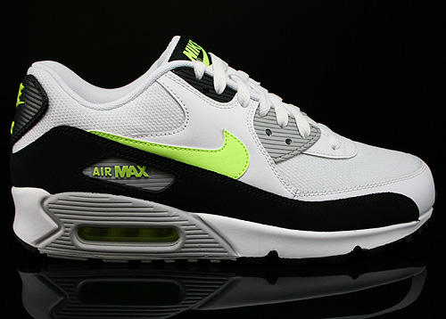 Nike Air Max 90 Essential White Volt Black Wolf Grey Sneakers 537384-118