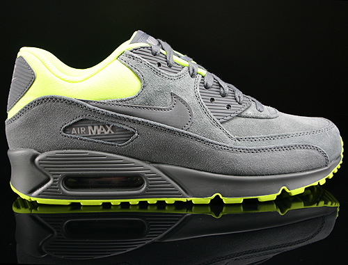 Nike Air Max 90 Premium Dark Grey Volt Medium Grey Sneakers 333888-022