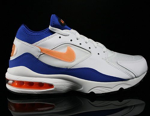 Nike Air Max 93 White Bright Citrus Hyper Blue Black Sneakers 306551-100