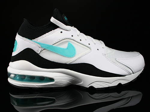 Nike Air Max 93 White Dusty Cactus Black Sneakers 306551-103