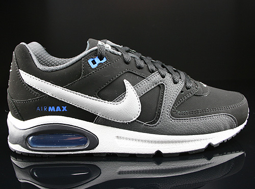 Nike Air Max Command Leather Black Silver Anthracite Prize Blue Sneakers 409998-005