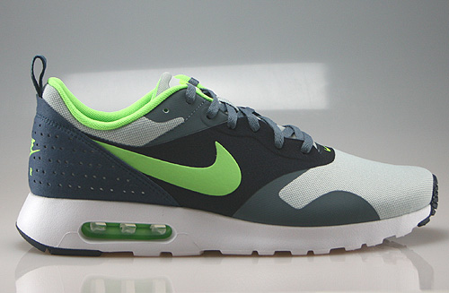 Nike Air Max Tavas Grey Mist Flash Lime Armory Slate Obsidian Sneakers 705149-003