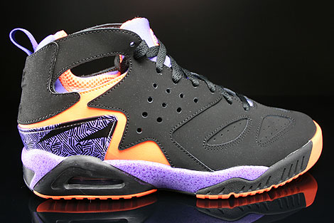 Nike Air Tech Challenge Huarache Black Orange Violet Court Purple Sneakers 630957-002