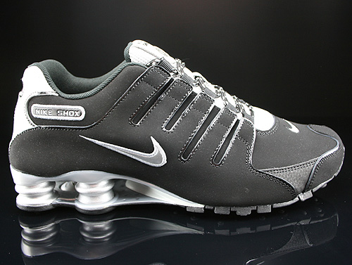 Nike Shox NZ EU Black Metallic Silver Black Sneakers 501524-012
